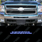 For 2007-2010 Chevy Silverado 2500 Hd3500 Hd Stainless Black Mesh Grille
