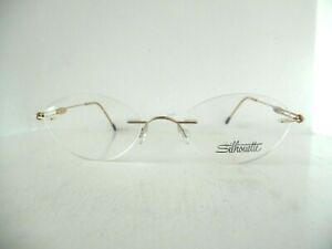 Silhouette Titan Gold Rimless Ex Display Eye Glasses M 6509 /25 6067 50 20 140