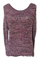 Scotch And Soda Maison Scotch Sweater Open Knit Red Black Sz Small Bateau Neck
