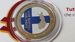 2 euro 2017 Finlandia color farbe couleur Finland Finlande Finnland Финляндия