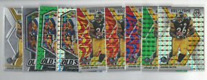 lot of 9 2020 mosaic Jerome Bettis Color Prizms Silver, Green, Reactive Blue