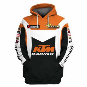 Drucken Herren Hoodie KTM Racing Motorrad Sweatshirt Kapuzenpullover