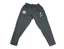 Nike NBA Authentic Detroit Pistons Basketball Player Worn Jogger Pants Gray XL