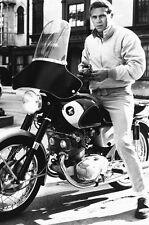 STEVE MCQUEEN CLASSIC COOL 24X36 POSTER HONDA MOTORBIKE