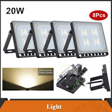 New listing 8× 20W Led Flood Light Warm White Spotligh 00006000 ts Landscape Football Field Yard Lamp