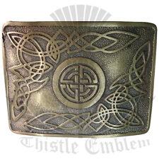 Hebilla de Cinturón de trabajo nudo celta Acabado Antiguo/Escocés Kilt Hebilla De Cinturón Celta