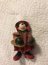 Vintage Walt Disney Minnie Mouse Noel Caroler Red Winter Outfit Figure Doll