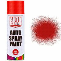 2 x 400ml Red Gloss Spray Paint Aerosol Can Auto Extreme Car Van Bike Etc...