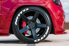 Tire Lettering Nitto stickers kit-1.25 inch'-15''16''17''18''19'20 (8 DECAL KİT)
