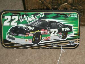 "NASCAR  #22 WARD BURTON & MBNA   LICENSE PLATE, 1998  ,Size: 12""x 6"", Plastic"