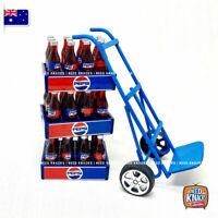 Mini Pepsi Crate and Trolley Set - Miniature Dollhouse Accessories 1:12