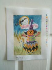 """Sale! Handpainted Needlepoint Canvas """"Dancing In The Moonlight"""" by Artdiva Desi"""