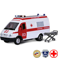 GAZ 27051 Gazelle Scale 1:36 Diecast Metal Model Minibus Russian Ambulance Toy