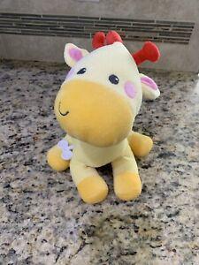 "Fisher Price Mattel 2015 Plush 12"" Wind Up Musical Moving Giraffe SANITIZED"