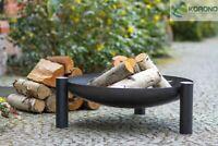 Korono Stahl Feuerschale mit 3 Beinen Ø 60-80cm mit Zubehör, Hand Made