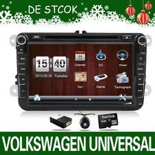 +Camera 8'' GPS Navigation 2Din Car Stereo DVD Player Bluetooth MP4 SD für VW