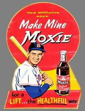 """TIN SIGN """"Moxie Cola Ted"""" Beverages Signs Garage Wall Decor"""