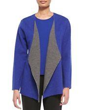 Eileen Fisher Adriatic Felted Merino Doubleknit Shaped Jacket LARGE New $318