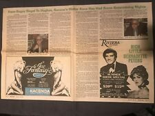 Backstage Newspaper Article From Bugsy Siegal To Hughes Summa's Walter Kane