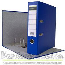20 x Ordner A4 8 cm PP Kunststoff Blau Aktenordner Briefordner Breit 80 mm