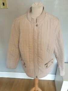 Ladies Quilted Jacket, M & S Collection Oyster Colour  Size 20  lined VGC