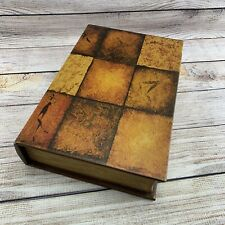 "Wooden Hollow Faux Book With Secret Compartment Hidden Box Stash Safe 8""x12""x3"""