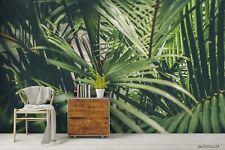 New Listing3D Tropical Green Leaf Wallpaper Wall Murals Removable Wallpaper 246