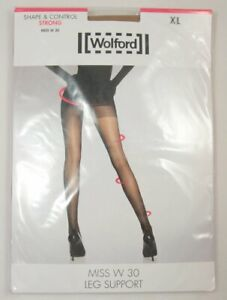Wolford Shape & Control Strong Miss W 30 XL Leg Support 11218 4004 Caramel Red