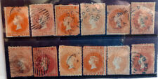 SOUTH AUSTRALIA EARLY 2d INPERFS ROULETTES AND SHADES 12 STAMPS
