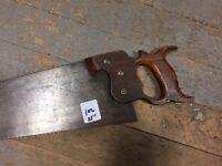 "Vintage  Cross Cut Hand Saw  25""  old school wood handle not sure of make no.102"