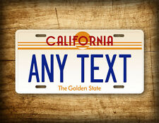 "VINTAGE CALIFORNIA Custom License Plate 1980s Retro ""Any Text"" Personalized Tag"