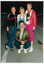 Vintage 80s PHOTO Guys & Gal Holding Polaroid Pics
