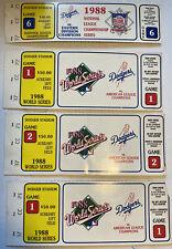 1988 WORLD SERIES LOS ANGELES DODGERS GAME 1/2 TICKET STUB-KIRK GIBSON HR X3!!!!