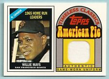 WILLIE MAYS 2001 TOPPS AMERICAN PIE TIMELESS CLASSICS GAME WORN JERSEY