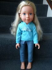 Chad Valley Design A Friend Doll Blonde Hair wearing a blue hoodie & jeans  *