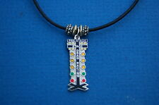 NHRA drag Christmas tree staging light  Tracey's racing jewelry necklace  DT-1