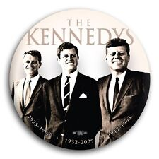 """The Kennedys John Bobby Ted Liberal Democrat Barack Obama Pin Button 3"""""""