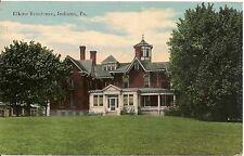 Elkins Residence Indiana PA Postcard 1911