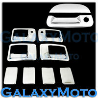 99-07 Ford Super Duty Chrome 4 Door Handle w/ PSG Keyhole+Tailgate Cover