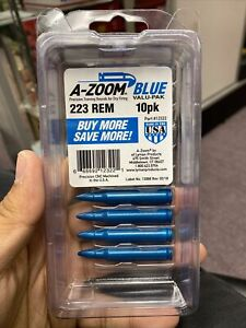 Pachmayr A-Zoom Metal Snap Caps 223 Rem Aluminum Blue 10 Pack 12322