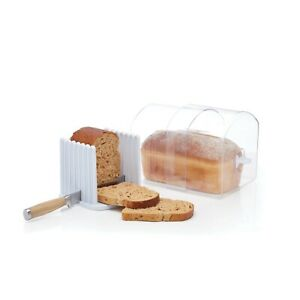 KitchenCraft Expanding Stay Fresh Acrylic Bread Keeper And Slicer