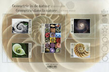 Belgium 2018 MNH Geometry Nature Spirals 5v M/S Flowers Seashells Space Stamps