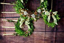 20 Inch Green Decorative Round Preserved Boxwood Decor Wreath 76356