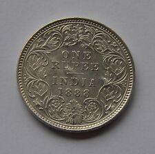 1888 British India Silver 1 Rupee Coin - Victoria Empress -  Old Rare Year