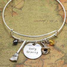 Wicked the Musical inspired bracelet defy gravity Elphaba Glinda Wicked bangle