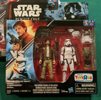 Star Wars Captain Cassian Andor vs Imperial Storm Trooper Figures TRU Exclusive