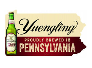 """Yuengling Lager Beer Bottle PA Metal Sign Proudly Brewed in Pennsylvania 17.5"""""""