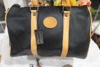 NWT ROBERTA ROMA BLACK LEATHER SATCHEL BOSTON BAG DR BAG   (PU150