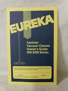 VINTAGE EUREKA CANISTER VACUUM CLEANER 500-3200 SERIES OWNERS GUIDE MANUAL M