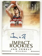 2012-13 PANINI INTRIGUE JAN VESELY IMPACT ROOKIES AUTOGRAPH #258/299 (WIZARDS)